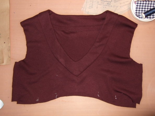 neckband joined to bodice
